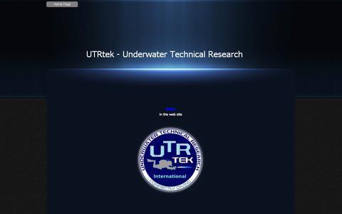 Screenshot of Home Page utrtek.eu - Nuovo Progetto - captured Oct. 9, 2015