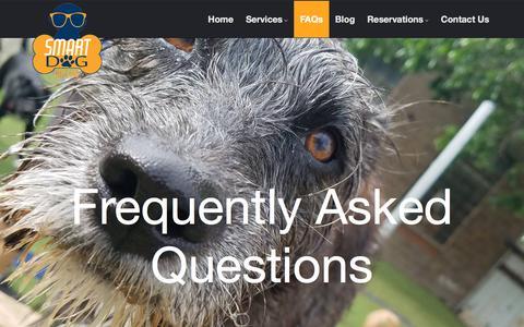 Screenshot of FAQ Page smartdogdallas.com - FAQs – Smart Dog Dallas - captured Sept. 21, 2018