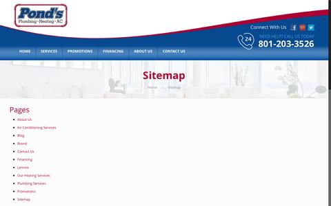 Screenshot of Site Map Page plumbersinutah.com - Sitemap – Plumbers In Utah - captured Dec. 26, 2016