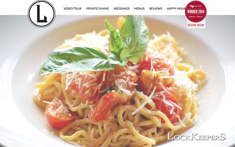 Screenshot of Home Page lockkeepers.com - LockKeepers | Fine Dining Cleveland - captured Oct. 3, 2014