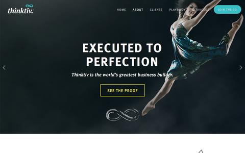 Screenshot of About Page thinktiv.com - The world's greatest business builder — Thinktiv - captured Oct. 9, 2014