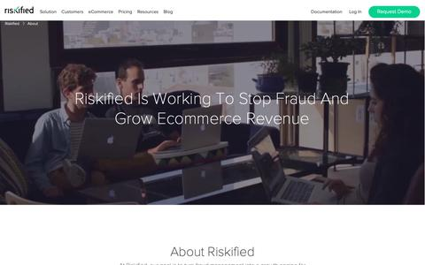 Screenshot of About Page riskified.com - eCommerce Fraud Prevention Solution | Riskified - captured Sept. 28, 2018