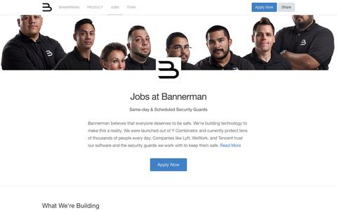 Screenshot of Jobs Page angel.co - Bannerman Jobs - AngelList - captured Feb. 10, 2018