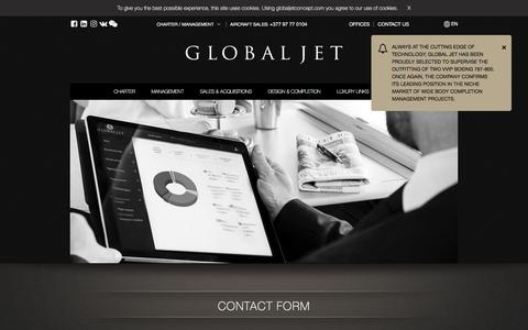 Screenshot of Contact Page globaljetconcept.com - Contact Form | globaljetconcept.com - captured July 19, 2018
