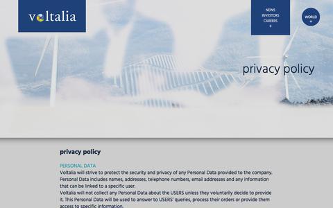 Screenshot of Privacy Page voltalia.com - voltalia - captured Sept. 21, 2018