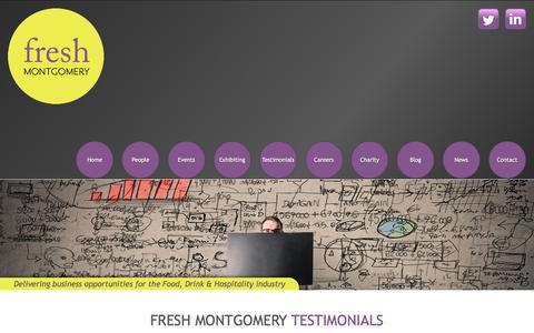 Screenshot of Testimonials Page freshmontgomery.co.uk - Fresh Montgomery - Testimonials - captured June 6, 2017