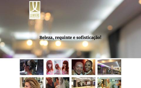 Screenshot of Home Page lumiereinternacional.com.br - Lumière Internacional - Home - captured Nov. 14, 2016