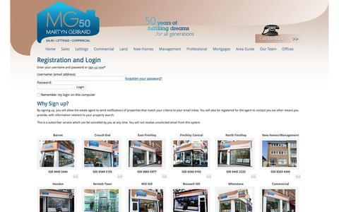 Screenshot of Login Page martyngerrard.co.uk - Login - captured Nov. 13, 2015