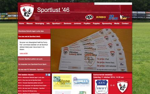 Screenshot of Home Page sportlust46.nl - Sportlust '46 Woerden - captured Oct. 7, 2014