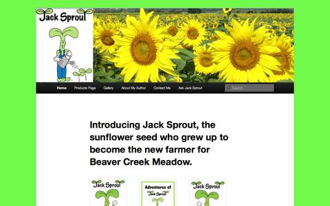 Screenshot of Home Page jacksprout.com - Jack Sprout - captured Oct. 3, 2014