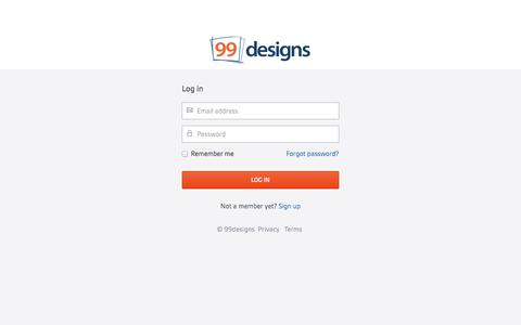 Screenshot of Login Page 99designs.com - Log in | 99designs - captured Oct. 28, 2014
