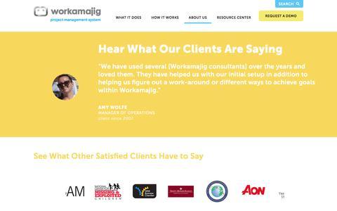 "Screenshot of Testimonials Page workamajig.com - Workamajigâ""¢ Platinum   Testimonials - captured June 9, 2016"