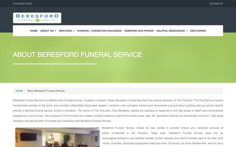 Screenshot of About Page beresfordfunerals.com - About Beresford Funeral Service | Beresford Funeral Home - captured April 9, 2017