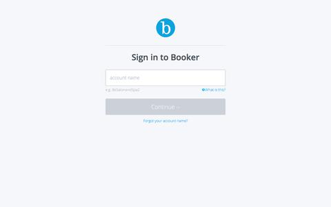 Screenshot of Login Page booker.com - Booker | Sign in - captured Jan. 27, 2020