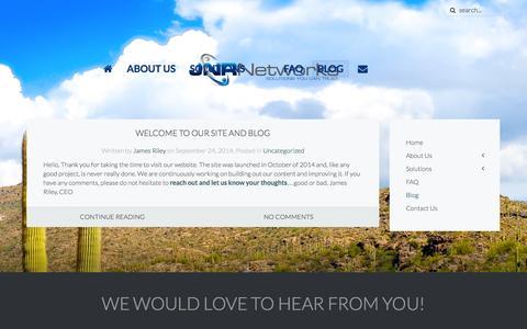 Screenshot of Blog jnrnet.com - Blog » JNR Networks » Solutions You Can Trust - captured Nov. 2, 2014
