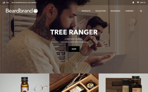Screenshot of Home Page beardbrand.com - Beardbrand | Beard care, oil, grooming, trimming, & styling products - captured Feb. 18, 2016
