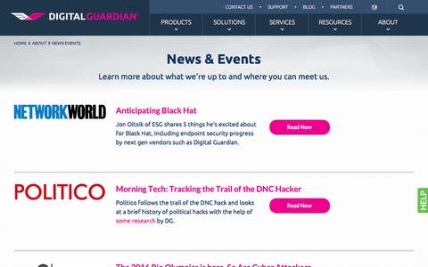 News & Events | Digital Guardian