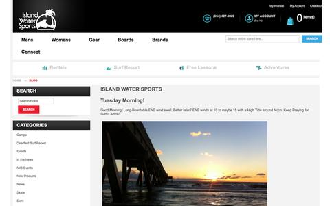 Screenshot of Blog islandwatersports.com - Island Water Sports - captured Oct. 29, 2014