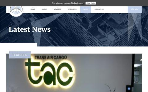 Screenshot of Press Page iasa.net - Latest News - IASA : International Air & Shipping Association - captured Oct. 1, 2018