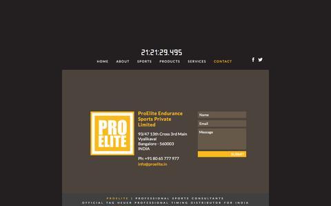 Screenshot of Contact Page proelite.in - Proelite - People - captured Feb. 1, 2016