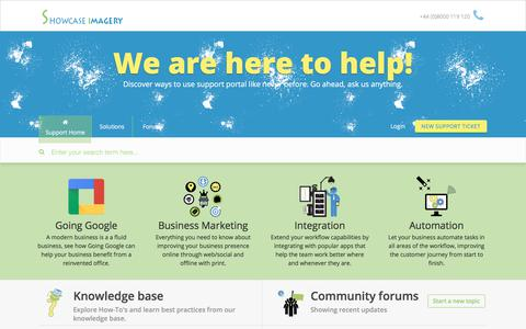 Screenshot of Support Page showcaseimagery.com - Support : Showcase Imagery Support Center - captured Nov. 15, 2017