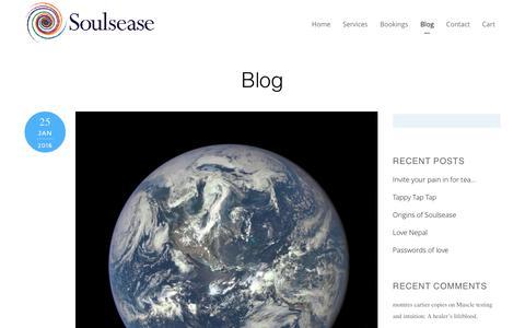 Screenshot of Blog soulsease.com - Blog - captured Feb. 26, 2016