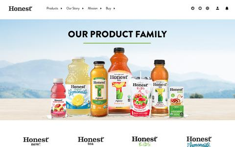 Screenshot of Products Page honesttea.com - Products - captured May 24, 2019