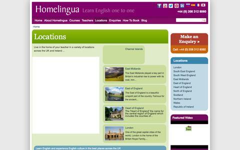Screenshot of Locations Page homelingua.com - Locations | Homelingua - captured Sept. 30, 2014