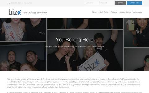 Screenshot of Jobs Page bizx.com - BizX  –  Careers - captured Sept. 12, 2014