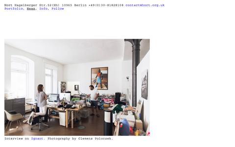 Screenshot of Press Page hort.org.uk - HORT NEWS - captured May 21, 2017