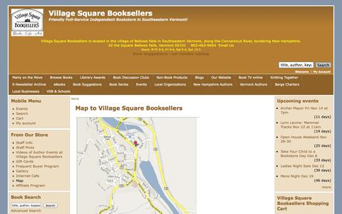 Screenshot of Maps & Directions Page villagesquarebooks.com - Map to Village Square Booksellers | Village Square Booksellers - captured Nov. 3, 2014