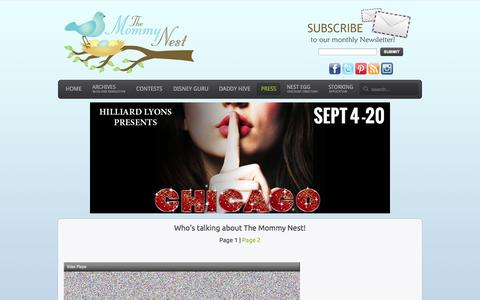 Screenshot of Press Page themommynest.com - The Mommy Nest - Press - captured Sept. 23, 2014