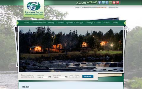 Screenshot of Press Page liscombelodge.ca - Liscombe Lodge Media » Liscombe Lodge - captured Oct. 2, 2014