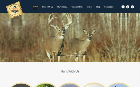 Screenshot of Home Page mwspllc.com - Mid West Sporting Properties, LLC  Hunt Giant Whitetail Bucks in Missouri on the iowa border - captured Oct. 18, 2017