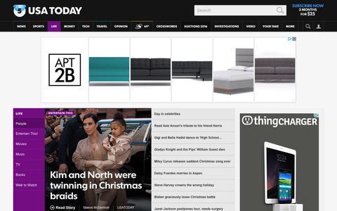 Screenshot of Team Page usatoday.com - Celebrity Photos, Videos and Interviews - USATODAY.com - captured Dec. 27, 2015