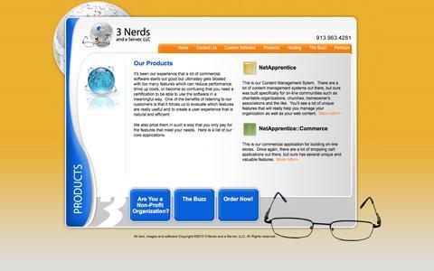 Screenshot of Products Page securednerd.com - ::Web Based Software Development::Kansas City - captured March 1, 2016