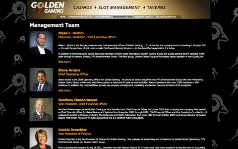 Screenshot of Team Page goldengaminginc.com - Management Team | Golden Gaming, Inc - captured Sept. 30, 2014
