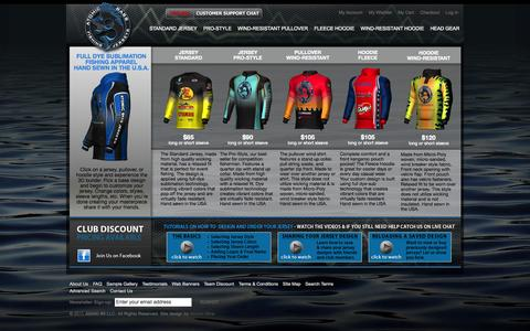 Screenshot of Home Page atomicbassjerseys.com - Atomic Bass Jerseys Home Page - captured Sept. 30, 2014