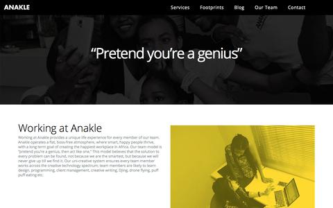 Screenshot of Team Page anakle.com - Working at Anakle | Anakle - captured Oct. 8, 2017