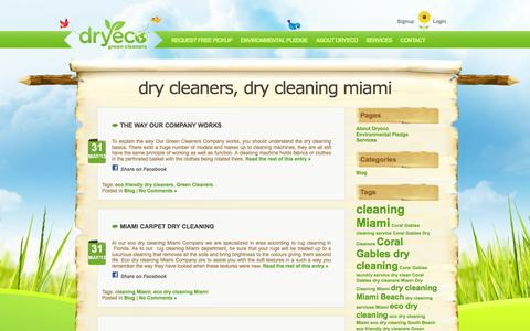 Screenshot of Blog dryeco.com - Dry Cleaners Miami - Dryeco Green Cleaners - Dry Cleaning Miami - Dry Cleaners, Dry Cleaning Miami - captured Nov. 24, 2016