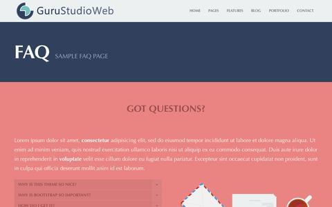 Screenshot of FAQ Page gurustudioweb.it - FAQ   GuruStudioWeb - captured Sept. 30, 2014