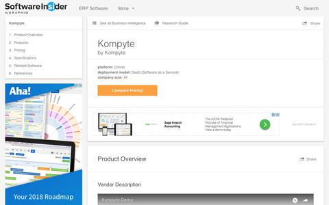 Kompyte - Reviews, Pricing and Features | SoftwareInsider