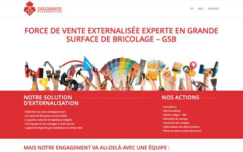 Screenshot of Home Page delgrange-distribution.com - Delgrange Distribution | Agence commerciale GSB - Sales agency - captured June 4, 2017