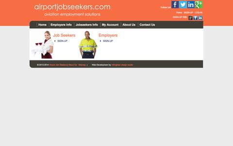 Screenshot of Signup Page airportjobseekers.com - airportjobseekers.com: Registration - captured Nov. 5, 2014
