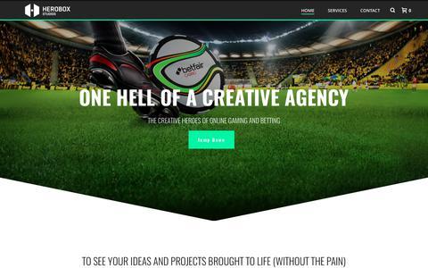 Screenshot of Home Page heroboxstudios.com - Home | Herobox Studios | One Hell of A Creative Agency - captured June 6, 2017