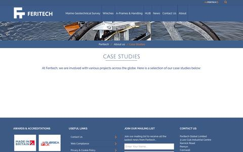 Screenshot of Case Studies Page feritech.com - Case Studies		 :		Feritech - captured Nov. 14, 2018