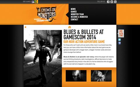 Screenshot of Press Page acrowdofmonsters.com - news | A crowd of Monsters - captured Sept. 29, 2014
