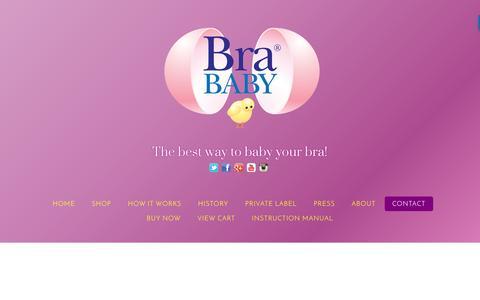Screenshot of Contact Page brababy.com - Contact – BraBaby - captured Nov. 23, 2016