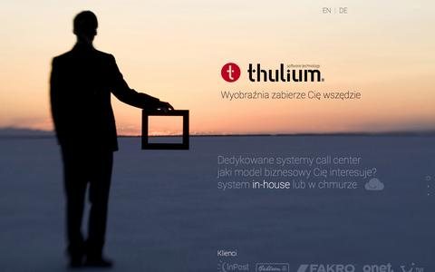 Screenshot of Home Page thulium.pl - Thulium.pl - Systemy Call Center - captured Oct. 9, 2014