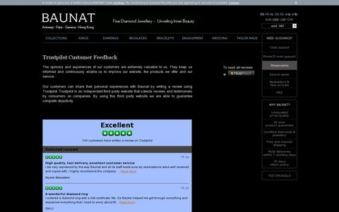 Screenshot of Testimonials Page baunat.com - Trustpilot Customer Feedback - Online boutique - captured July 18, 2014